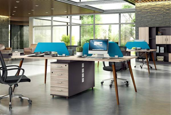 金属办公桌,钢木结合办公桌等; 从使用场合看,主要有办公室,敞开式的图片