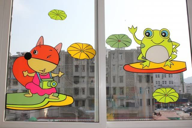 幼儿窗户手工装饰图片
