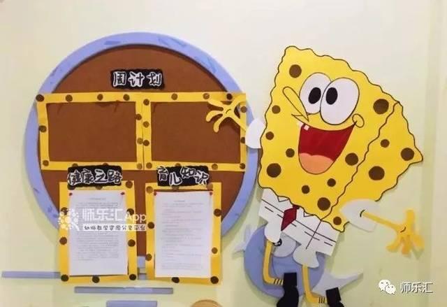 幼儿园开学环创,小朋友最爱的卡通风