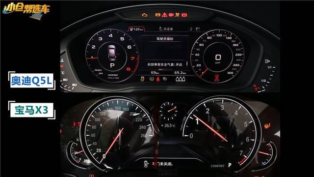 两车都采用了全液晶仪表盘,但是论科技感,奥迪q5l更胜一筹.图片