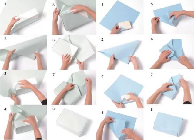 纸叠盒子步骤图解