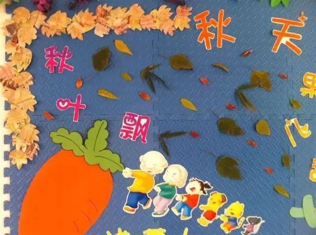 秋季主题墙——环创 院内秋叶飘飘,硕果累累,真是个丰收的季节,小莉图片