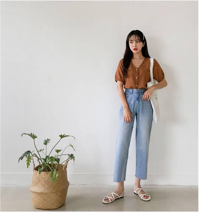 look2:长袖针织衫 阔腿裤