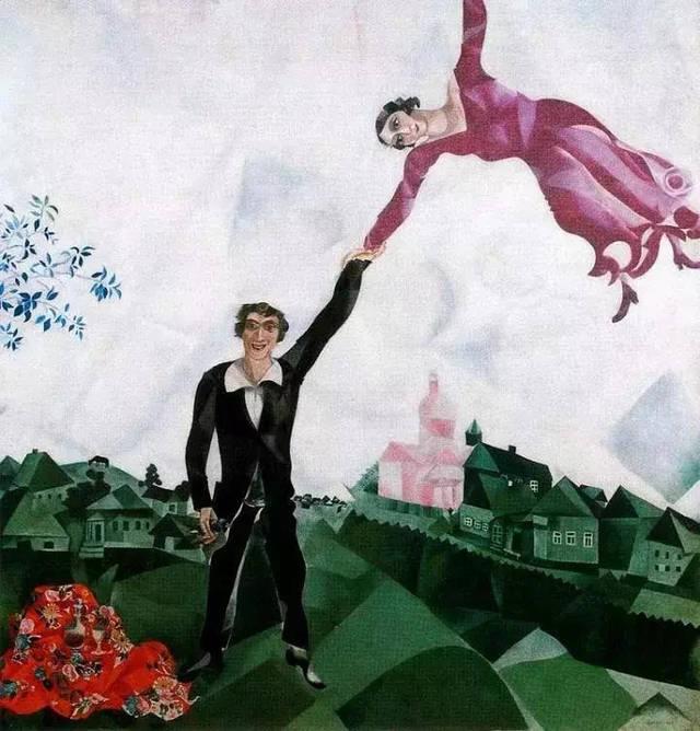 (法国画家卢梭油画作品) (俄罗斯 夏加尔作品) 马进坠落中脑中闪现图片
