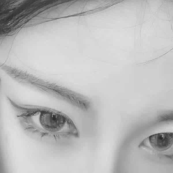 眼睛部位图女生头像