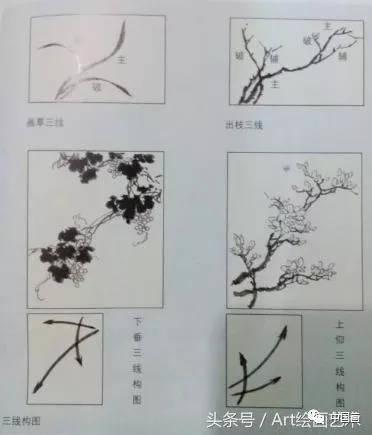 中国画花鸟画入门技法——构图篇图片