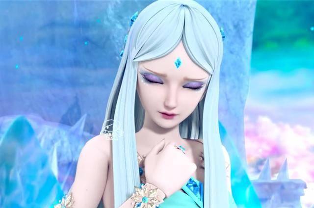 许愿姿势最美的四个叶罗丽,冰公主单手祈愿,白光莹楚楚可怜图片
