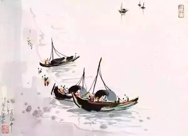 吴冠中笔下的船,孤舟,群舟,绳索交错,美的进入心窝