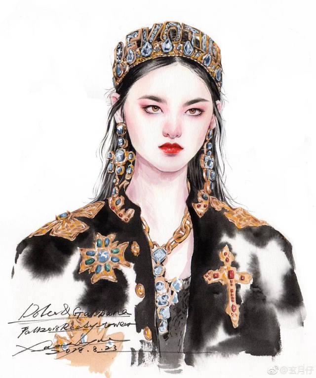 史上最美手绘时装画!比模特还好看!