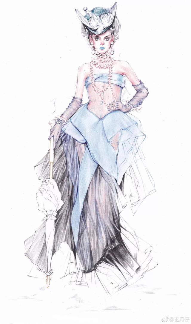 服装模特怎么画步骤