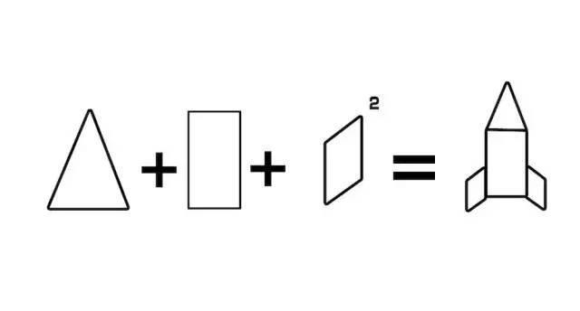 简笔画 | 用三角形和长方形组合—火箭-体育频道-手机图片
