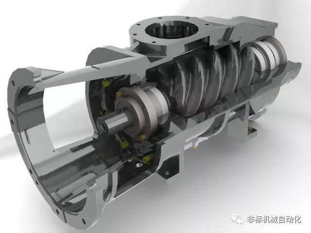 压缩机是将低压气体 提升到高压气体的从动流体机械.图片