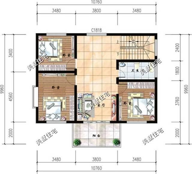 9x10米农村自建房,小户型别墅的最爱!附带图纸!
