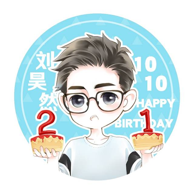 刘昊然21岁生日将至 q版生日应援头像换起来!图片