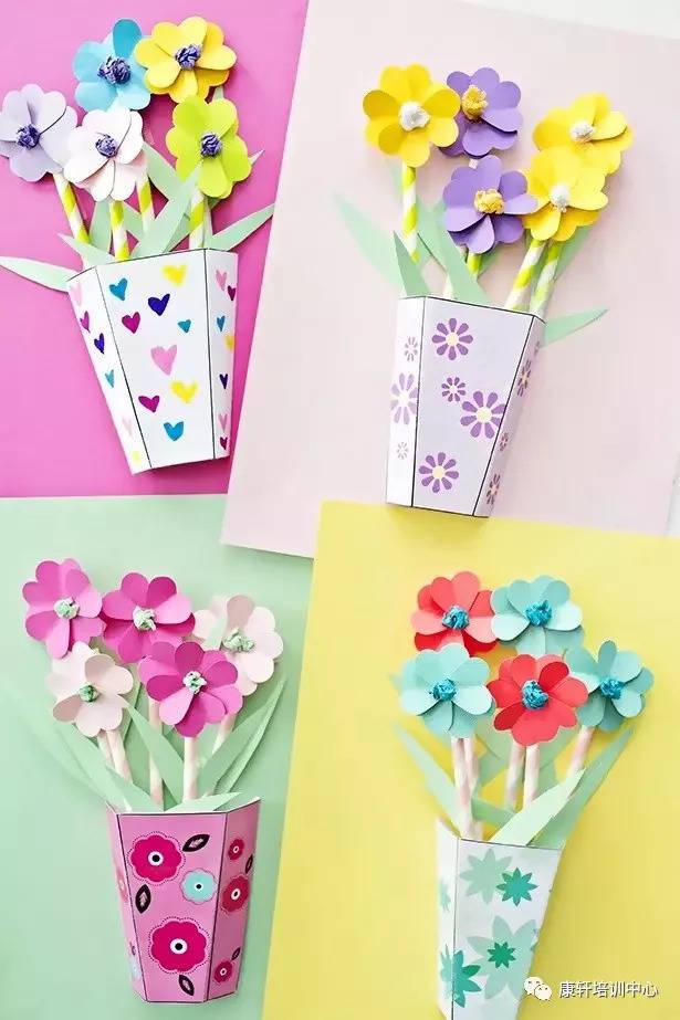 手工制作纸张花盆