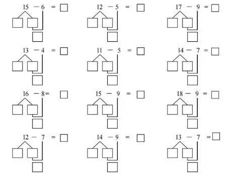 一年级数学拆分法与凑十法,10和20以内的加减法窍门汇总!图片