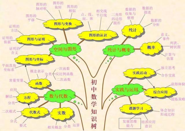 【中招攻略】初中數學知識點匯總之樹狀圖,初三同學趕緊收藏轉發圖片