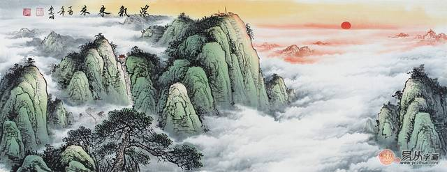 客厅靠山图挂画选什么好?宋唐手绘山水画助您飞黄腾达