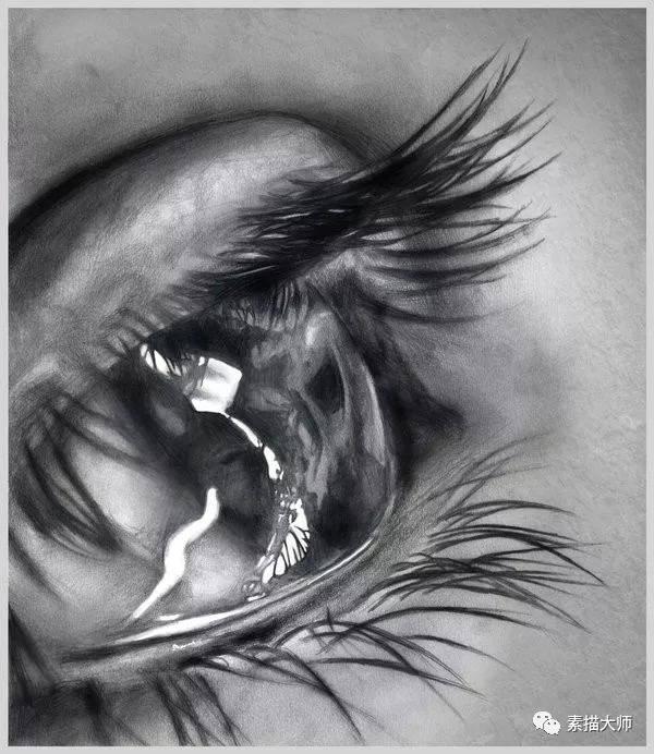 38个漂亮逼真的眼睛特写铅笔画欣赏
