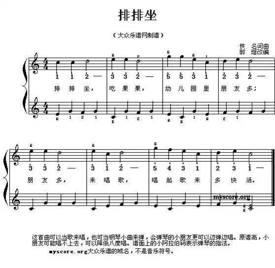 幼儿园常用100首儿童歌曲钢琴简谱!快快收藏吧!图片