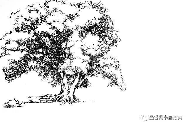 風景速寫--樹的畫法