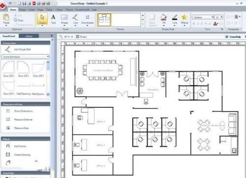 它可以轻松的制作各种图纸,流程图;地图;室内设计图等等.
