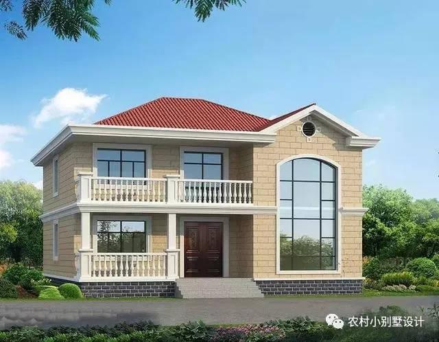 3套80,90都喜欢二层小户型农村小别墅,外观靓,建起就是豪宅!图片