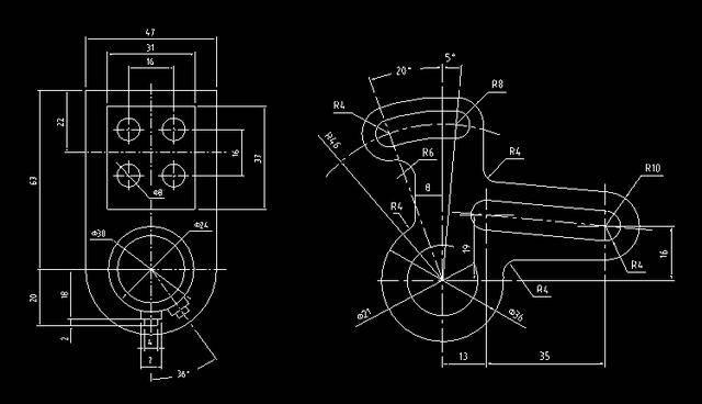 求助机械学生 cad画图 图形