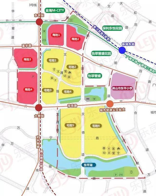 小涌片区规划图