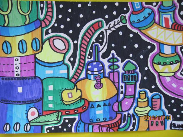 儿童创意美术课题《机械迷城》,神秘而又酷炫!