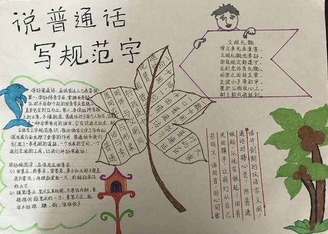 根据《独山县语言文字工作委员会关于开展语言文字规范化手抄报评比图片
