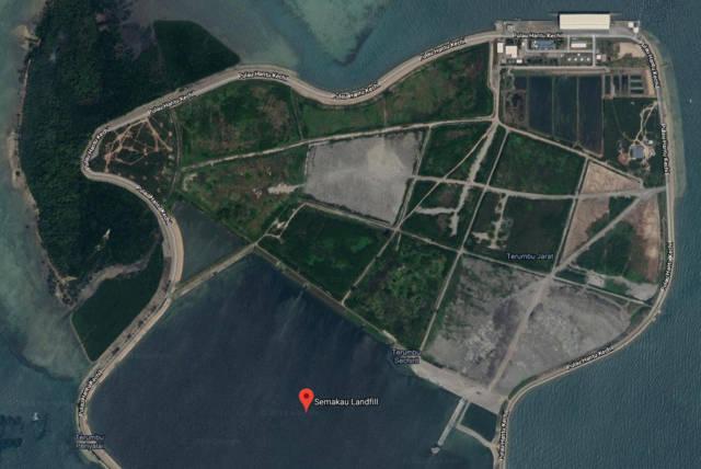 谷歌卫星地图上实马高岛是这样的