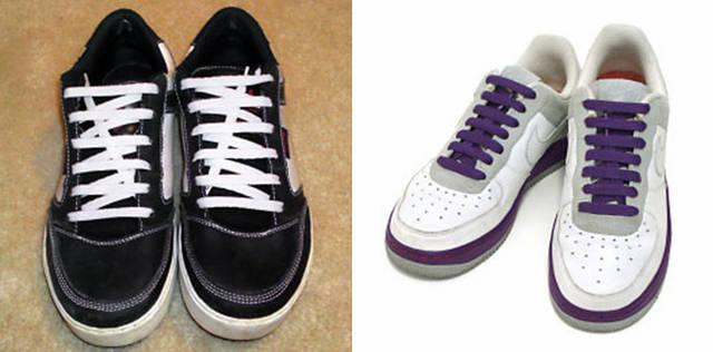 6孔鞋带的花样系法简单系法步骤_coolnice 6孔鞋带的系法图解