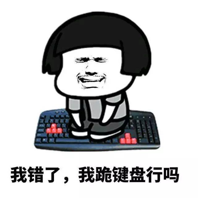 【认错表情包】我错了,我跪键盘行吗图片