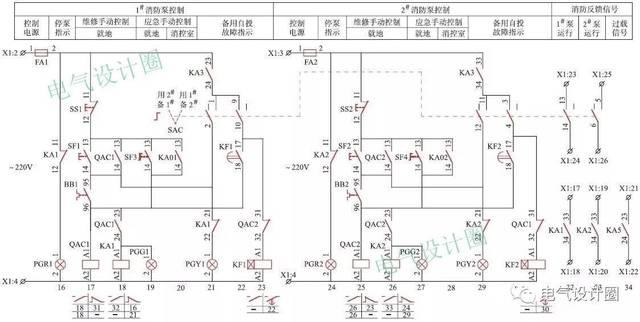 电工电气:消防水泵控制电路图的常见问题及解决办法