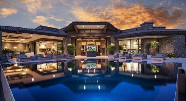 """美国,别墅中沙漠""""一座式""""的造价别墅,超奢华,风景如画景观扶风农村梦幻图片"""