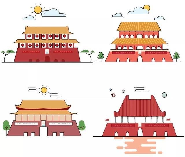 ▼天安门简笔画 以上小tips可要赶快收藏,愿你有个愉快假期哦!