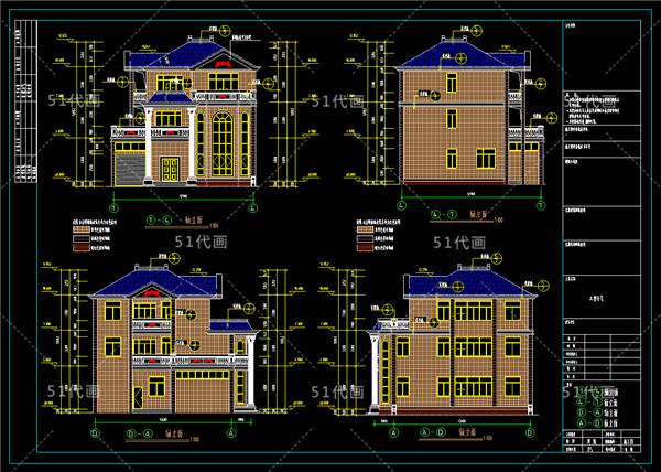 农村房子设计图:复式3层独栋别墅125和366平米设计图纸欣赏