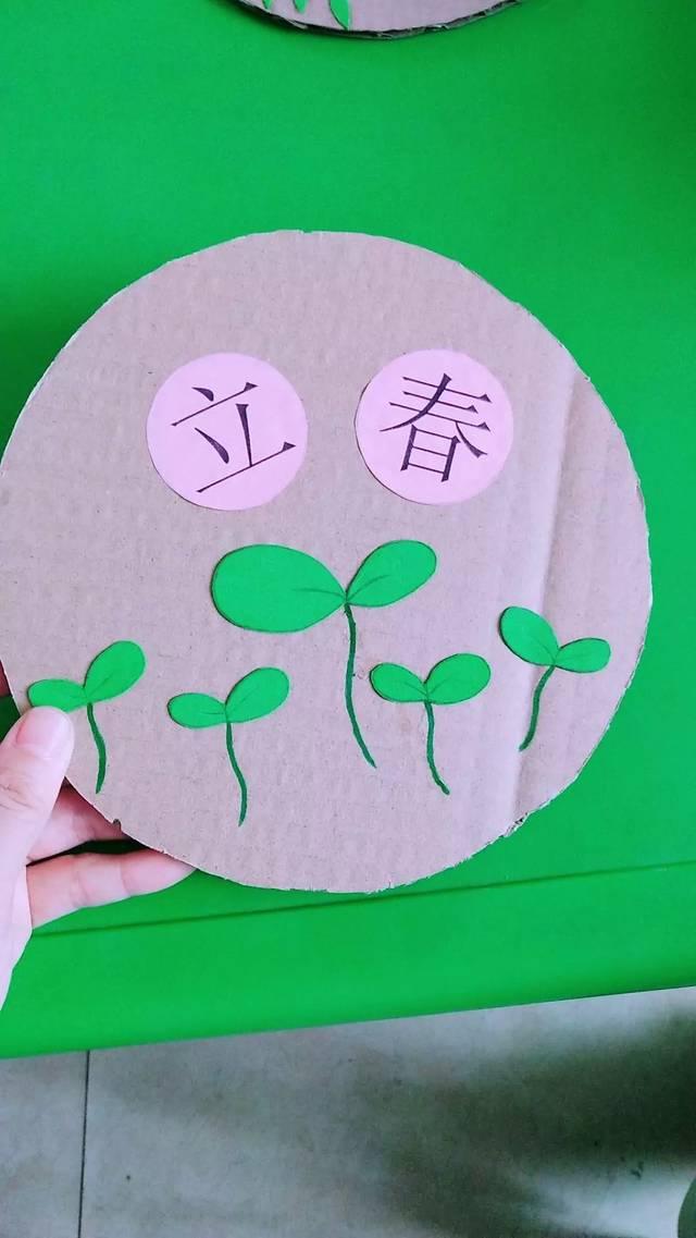 幼儿园版24节气手工作品,主题墙装饰1年不发愁