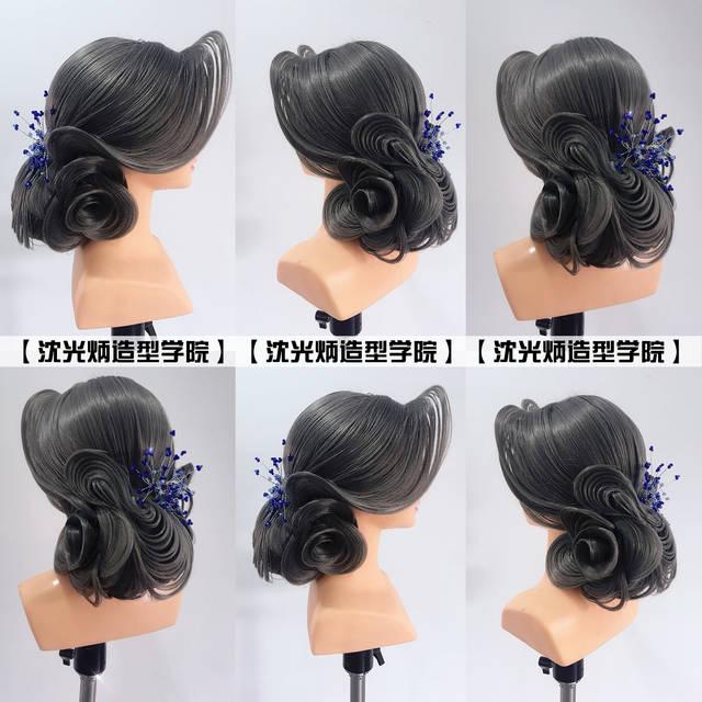 【沈光炳造型】欧式纹理盘发.晚宴盘发.高级晚装盘发.图片