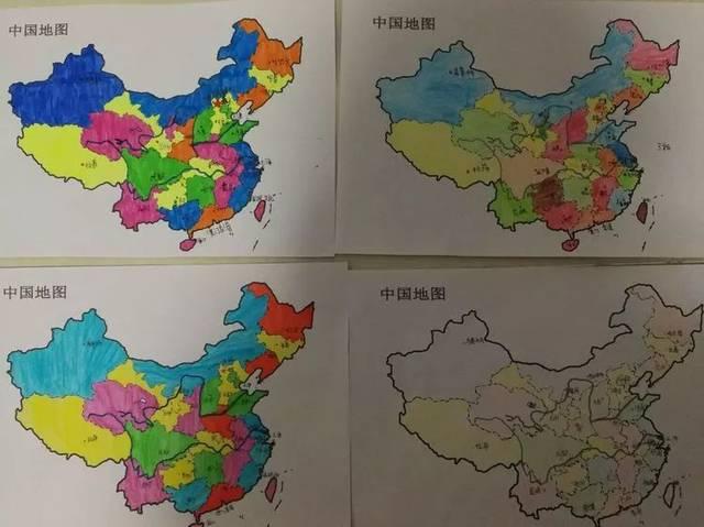 学生在动手绘画地图过程中更加深刻全面的了解了中国版图,切身感受到图片
