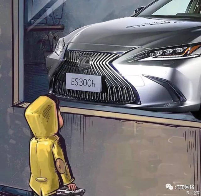 最近网络上有这样一组与汽车相关的图片,一个小男孩站在汽车橱窗外.图片