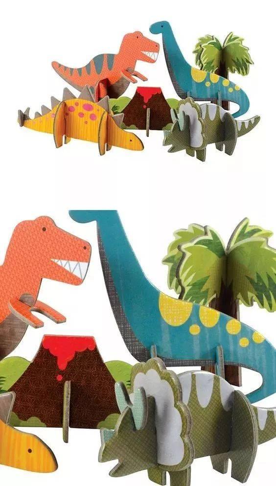 纸箱恐龙手工制作大全