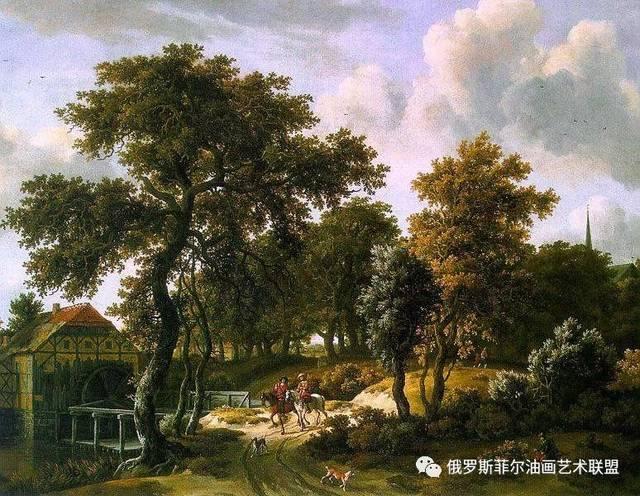荷兰画家霍贝玛风景油画作品赏析图片
