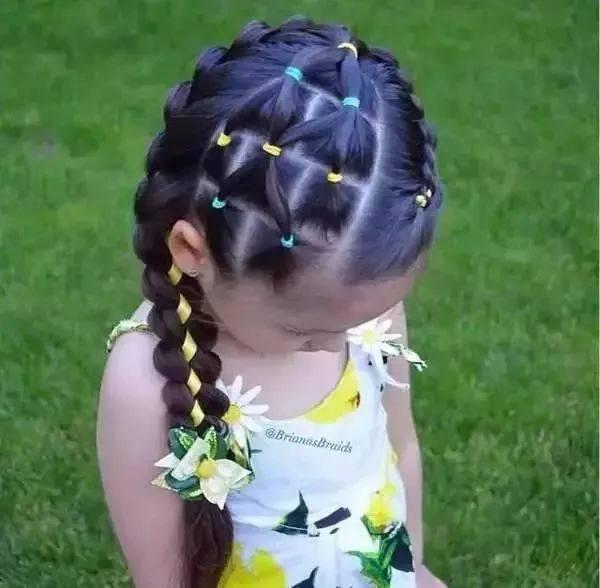 61款小女孩编发发型大全,头顶都能编出