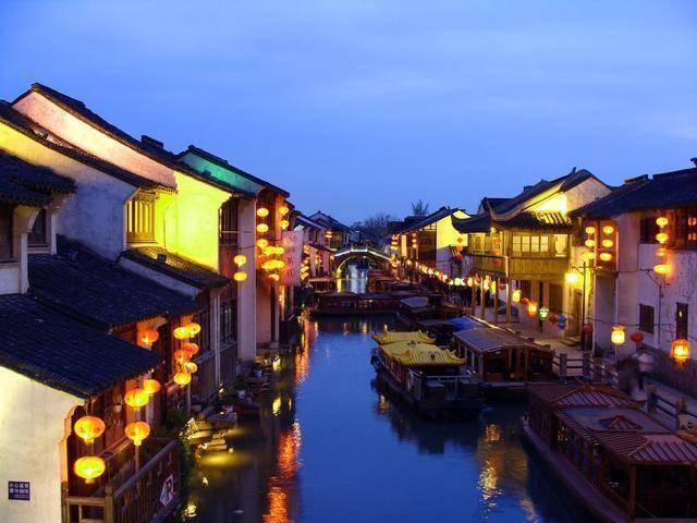 第一站:山塘街夜景图片