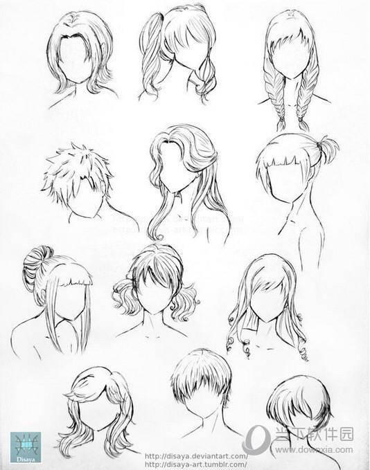 所以很多同学会理解为漫画人物的头发的画法是齿轮状的,漫画人物(特别