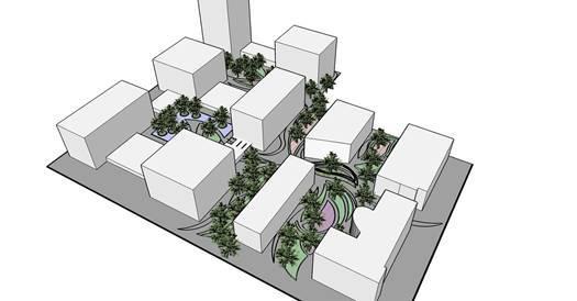 独具的花园设计为周围的建筑提供了良好的景观 项目名称:orbec养老院