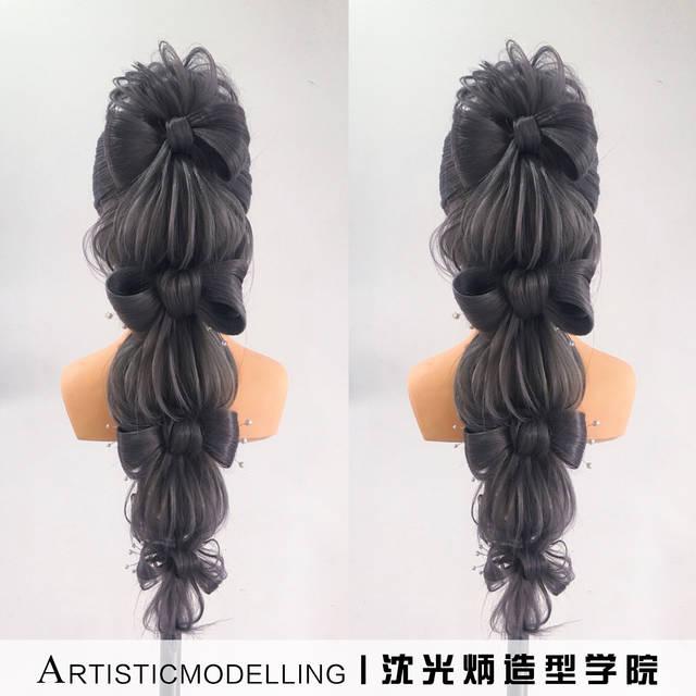 【沈光炳造型】晚宴盘发.创意发型.日式造型.新娘编发图片
