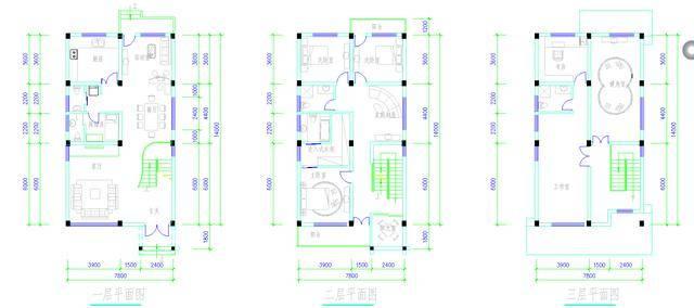 3套别墅设计cad图纸,总有一套让您心动